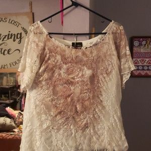 Ladies lace over top
